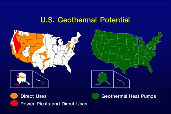 Introduction To Geothermal Energy US Geothermal Potential - Geothermal map of the us