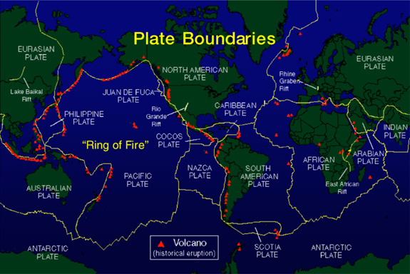 Plate Boundary Map Introduction to Geothermal Energy   Plate Boundary Map